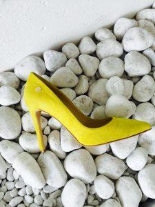 Лимонные туфли-лодочки